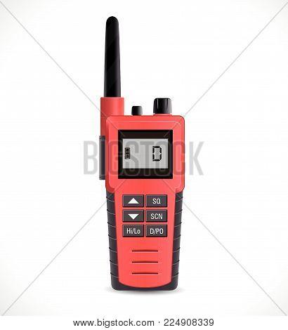 Satellite communications concept - walkie talkie cb radio