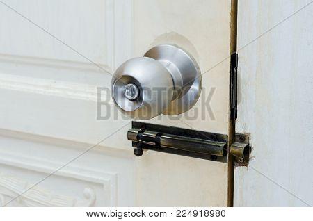 Knob door wooden door White stainless door knob or handle, hand knob door hand press door lock knob