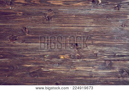 Brown old grunge wood background or texture.