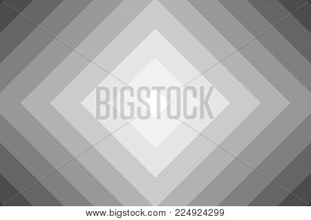Diagonal lines, Squares soft background, Concentric square gray vector pattern