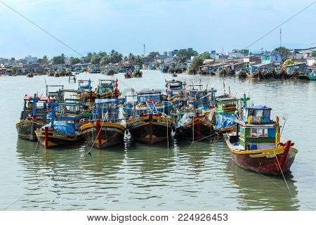 fisher boats in cambodia - wooden boat