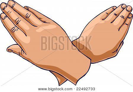 Hands crossed up