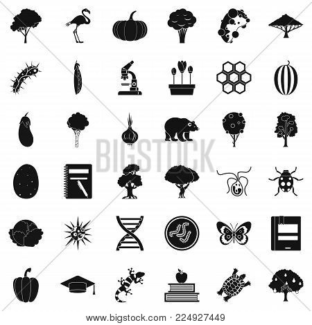 Fauna environment icons set. Simple set of 36 fauna environment vector icons for web isolated on white background