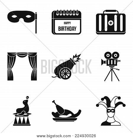 Deception icons set. Simple set of 9 deception vector icons for web isolated on white background