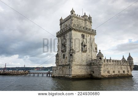 Belem Tower or the Tower of Saint Vincent is a fortified tower located in Lisbon, Portugal