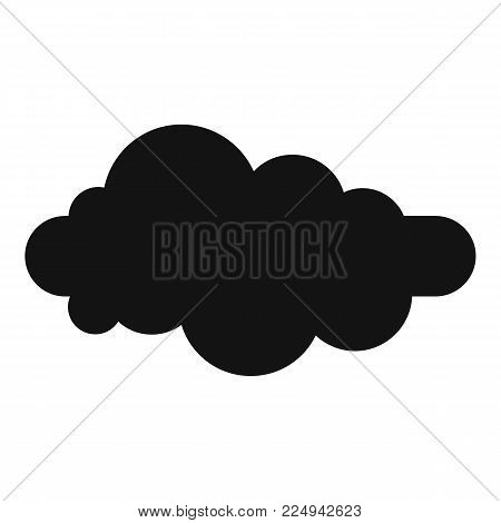 Formed cloud icon. Simple illustration of formed cloud vector icon for web