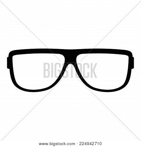 Eyeglasses without diopters icon. Simple illustration of eyeglasses without diopters vector icon for web