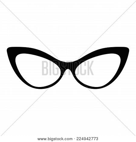 Spectacles without diopters icon. Simple illustration of spectacles without diopters vector icon for web