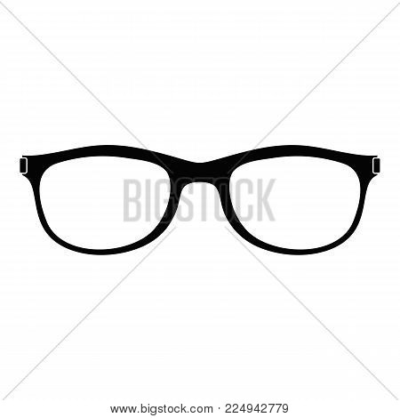 Spectacles with diopters icon. Simple illustration of spectacles with diopters vector icon for web