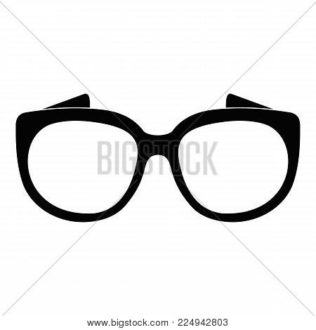 Eyeglasses for sight icon. Simple illustration of eyeglasses for sight vector icon for web