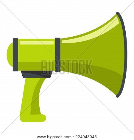 Sound megaphone icon. Cartoon illustration of sound megaphone vector icon for web