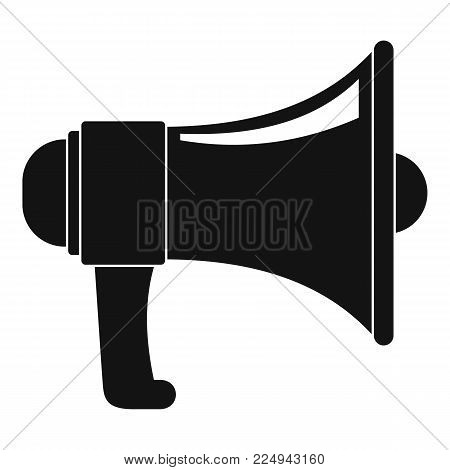One megaphone icon. Simple illustration of one megaphone vector icon for web