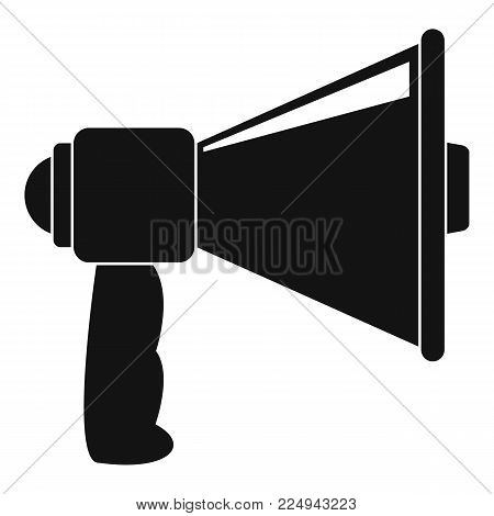 Small megaphone icon. Simple illustration of small megaphone vector icon for web