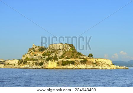 Corfu town, Corfu, Greece - October 01, 2017 : The Old Venetian fortress a Venetian fortress in the city of Corfu