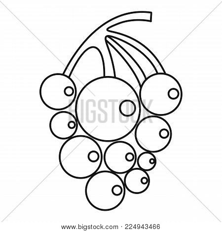 Ripe grape icon. Outline illustration of ripe grape vector icon for web