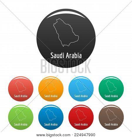 Saudi Arabia map thin line. Simple illustration of Saudi Arabia map vector isolated on white background