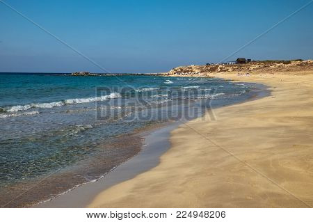 Halk beach at the Northern Cyprus october day