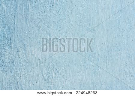 Clay Wall Is Whitewashed By Lime, Azure Tone, Background