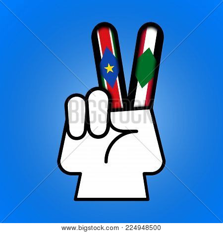 Illustration idea showing peace is possible between North and South Sudan.