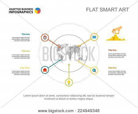 Five options process chart slide vector photo bigstock five options process chart slide template business data international world map design gumiabroncs Gallery