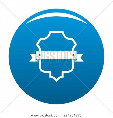 Badge guardian icon vector blue circle isolated on white background