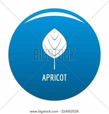 Apricot leaf icon vector blue circle isolated on white background