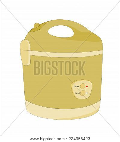 illustration modern electric rice cooker isolated icon design