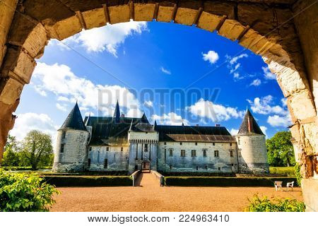 Fairytale medieval castles iof Loire valley - Le Plessis Bourre. France