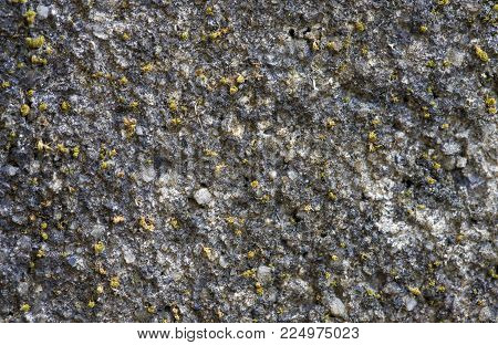 Grey concrete wall texture background. Distressed stone surface. Rustic design template. Old painted texture in gray. Noisy grit material background. Grunge concrete texture. Grey stone photo