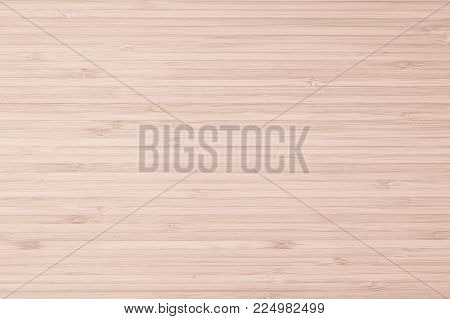 Bamboo Natural Wood Texture Pattern Background In Light Red Cream Beige Brown Color