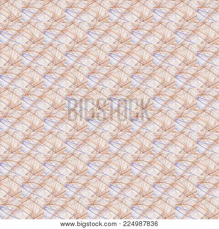 Grunge Seamless Orange Texture Broken Fractal Patterns