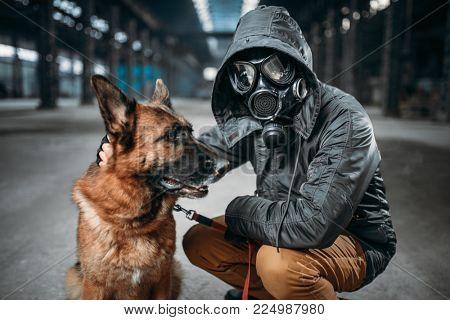Stalker and dog, survivors in danger zone