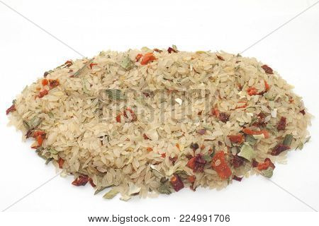 rice with Indonesian spicy vegetables rice with Indonesian spicy vegetables