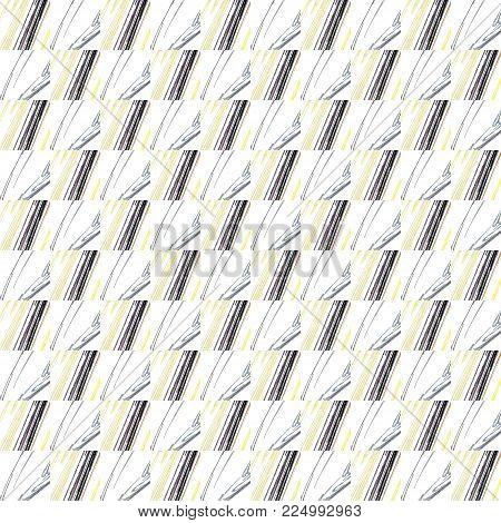 Grunge Seamless Gray Texture Broken Fractal Patterns