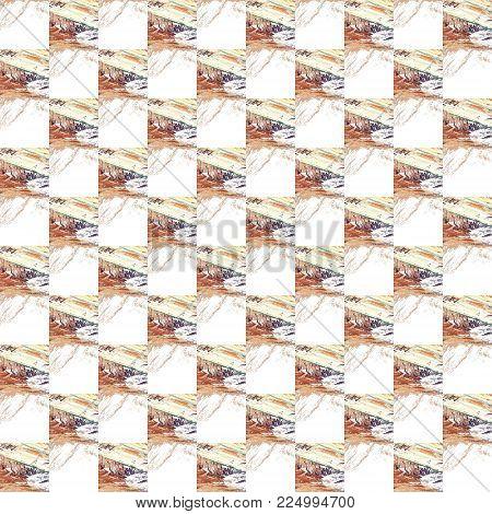 Grunge Seamless Yellow Texture Broken Fractal Patterns