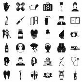 Holistic icons set. Simple set of 36 holistic vector icons for web isolated on white background poster