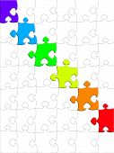 Rainbow puzzle. color part games solution contrasts toy poster