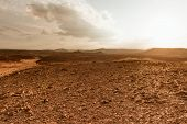 Desert landscape background global warming concept Sinai, Egypt poster