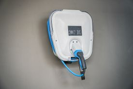 Electric Car Charger. Power Supply Electric Car Charging For Electric Car Technology Transportation