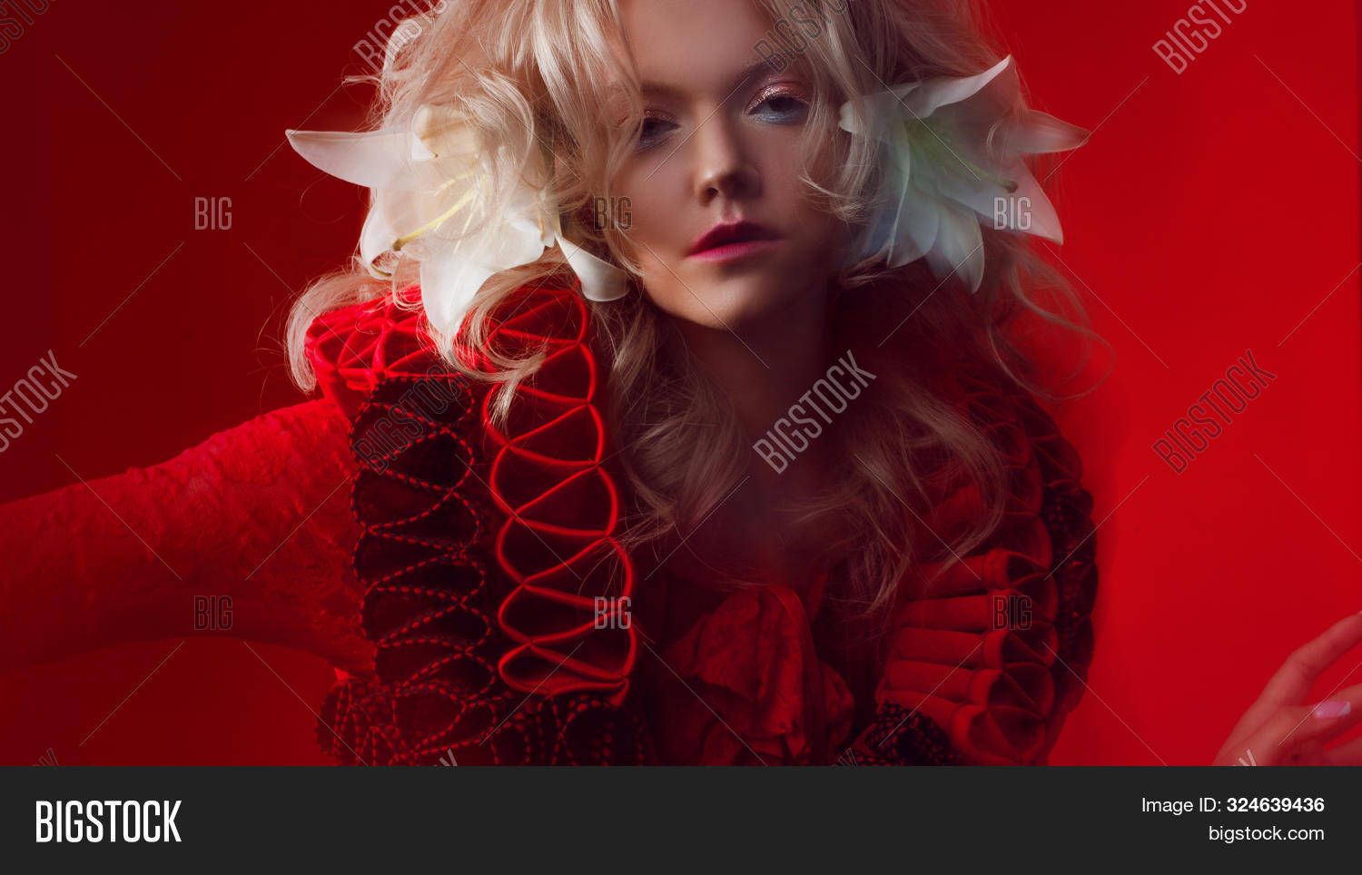 Shades Red Portrait Image Photo Free Trial Bigstock