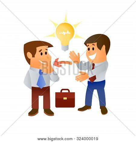 Creative Offers Ideas For Doing Business. Vector Illustratiom