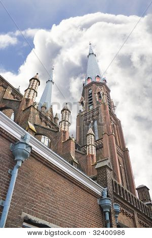 The  Church In Delft In The Netherlands