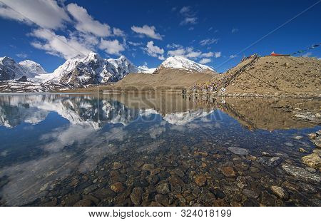 Sikkim, India, May 2014, People At Gurudongmar Lake, One Of The Highest Lakes In The World At An Alt
