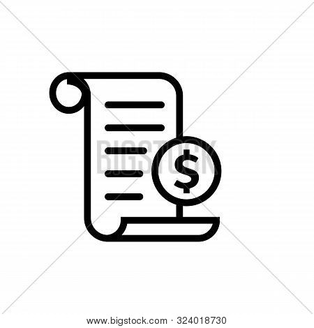 Invoice Line Icon In Flat Payment And Bill Invoice