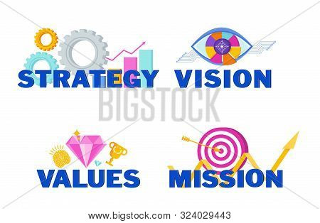 Business Vision, Mission, Values And Strategy Statement.
