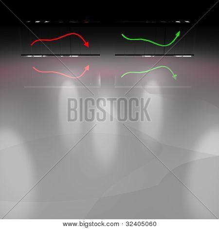 3D Diagramm der Industrie-