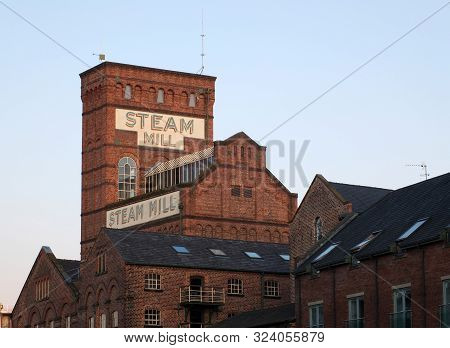Chester, Cheshire, United Kingdom - 7 September 2019: The Historic Steam Mill Buildings In Cheshire