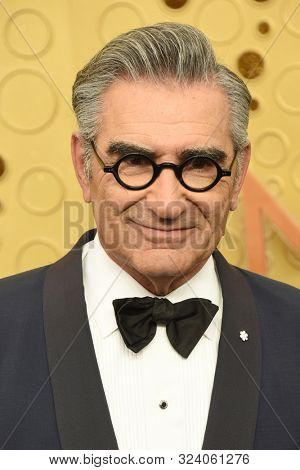 LOS ANGELES - SEP 22:  Eugene Levy at the Primetime Emmy Awards - Arrivals at the Microsoft Theater on September 22, 2019 in Los Angeles, CA