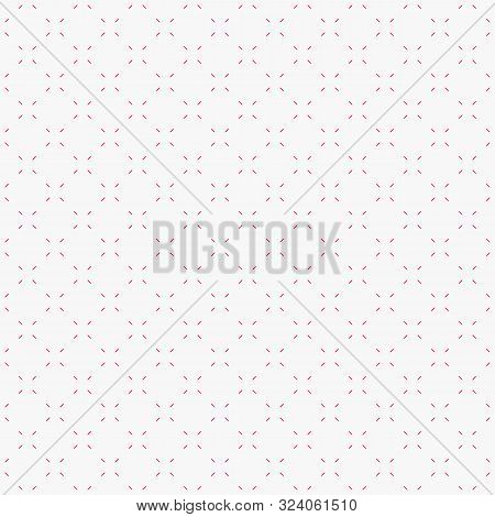 Vector Minimalistic Seamless Pattern. Subtle Pink And White Minimal Geometric Texture. Abstract Back