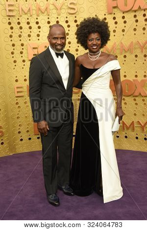 LOS ANGELES - SEP 22:  Julius Tennon, Viola Davis at the Primetime Emmy Awards - Arrivals at the Microsoft Theater on September 22, 2019 in Los Angeles, CA